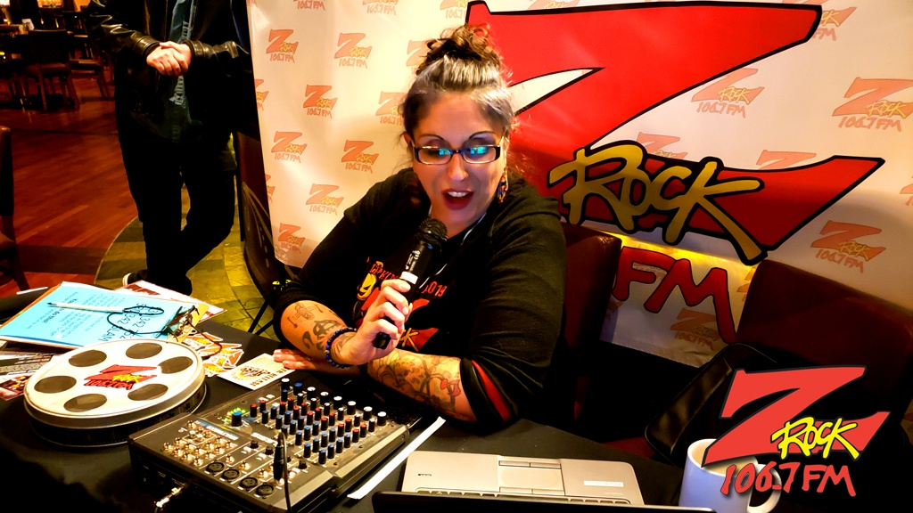 Frost broadcasting live for Beer-30 on 106.7 Z-Rock during Feather Falls Fridays at Feather Falls Brewing Company in Oroville CA