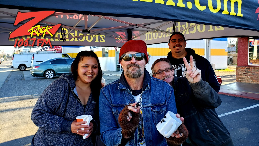 Tim Buc Moore from 106.7 Z-Rock hangs out with Buc-Heads at Odin's Smoke Shop in Chico for Wake the Buc Up Thursday February 6th 2020