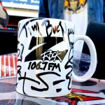"Exclusive Z-Rock ""Doodle"" mug, customized by Tim Buc Moore at Odin's Smoke Shop in Chico for Wake the Buc Up Thursday February 6th 2020"