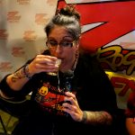 Frost enjoys a tasty brew during Beer-30 on 106.7 Z-Rock during Feather Falls Fridays at Feather Falls Brewing Company in Oroville CA