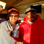 Tim Buc Moore hanging out with a Buc Head at Betty Cakes & Coffee in Oroville California for Wake the Buc Up on 106.7 Z-Rock