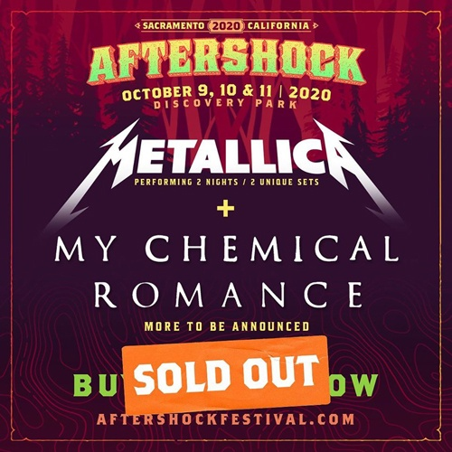 Aftershock 2020 Sold Out