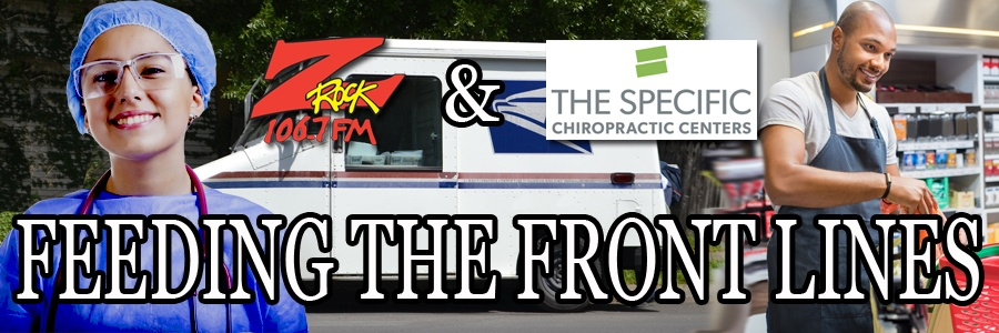 106.7 Z-Rock and Dr. Shane at Specific Chiropractic Centers in Chico are Feeding the Front Lines