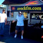 Tim Buc Moore with loyal Buc-heads at Lots' A Java in Oroville California for Wake the Buc Up on 106.7 Z-Rock