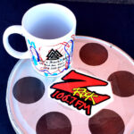 "World famous Z-Rock ""doodle"" mug at Lots' A Java in Oroville California for Wake the Buc Up on 106.7 Z-Rock"