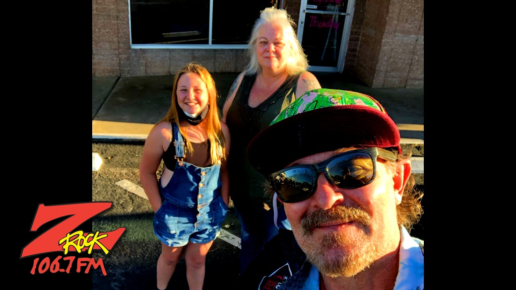 Tim Buc Moore with loyal Buc Heads at Betty Cakes and Coffee in Oroville California for Wake the Buc Up on 106.7 Z-Rock