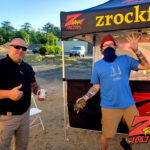 Tim Buc Moore with a loyal Buc-Head at Mug Shots Coffee House in Oroville CA for Wake the Buc Up on 106.7 Z-Rock