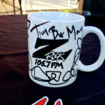 """World famous Z-Rock """"Doodle"""" mug at Equilateral Coffee in Chico California for Wake the Buc Up on 106.7 Z-Rock"""