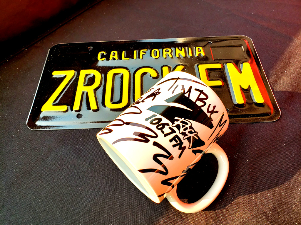 "World famous Z-Rock ""Doodle"" mug at the Grateful Bean Coffee House in Chico California for Wake the Buc Up on 106.7 Z-Rock"