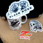 """World famous Z-Rock """"Doodle"""" mug at Black Rose Coffee & Tea in Redding California for Wake the Buc Up on 106.7 Z-Rock"""
