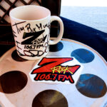 """World famous Z-Rock """"Doodle"""" mug at Mug Shots Coffee House in Oroville California for Wake the Buc Up on 106.7 Z-Rock"""