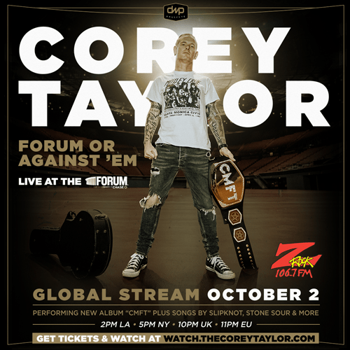 Win Corey Taylor Live Stream PPV Passes