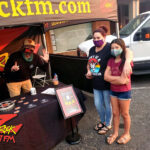 Tim Buc Moore with loyal Buc Heads at Betty Cakes and Coffee in Oroville CA for Wake the Buc Up on 106.7 Z-Rock October 1st 2020