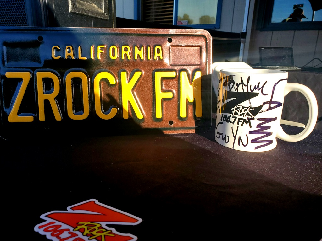 "World famous Z-Rock ""doodle"" mug at Lots' A Java in Oroville California for Wake the Buc Up on 106.7 Z-Rock October 15th 2020"