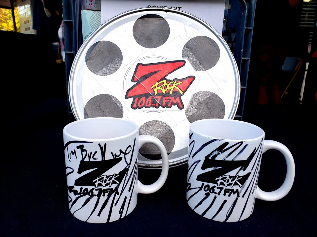 "World famous Z-Rock ""doodle"" mugs at Morning Thunder Cafe in Chico California for Wake the Buc Up on 106.7 Z-Rock October 22nd 2020"