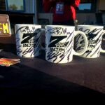 "World famous Z-Rock ""doodle"" mugs at Lots' A Java in Oroville California for Wake the Buc Up on 106.7 Z-Rock October 15th 2020"