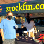 Tim Buc Moore with a loyal Buc Head at Lots' A Java in Oroville California for Wake the Buc Up on 106.7 Z-Rock October 15th 2020