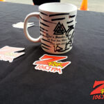 """World famous Z-Rock """"doodle"""" mug at the PV Circle K/Chevron in Chico California for Wake the Buc Up on 106.7 Z-Rock October 8th 2020"""