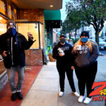 Tim Buc Moore with loyal Buc-Heads at Legendary Coffee/Juice in Red Bluff CA for Wake the Buc Up on 106.7 Z-Rock