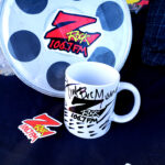 """World famous Z-Rock """"doodle"""" mug at Lovely Layers Cakery in Chico Ca for Wake the Buc Up with Tim Buc Moore on 106.7 Z-Rock"""