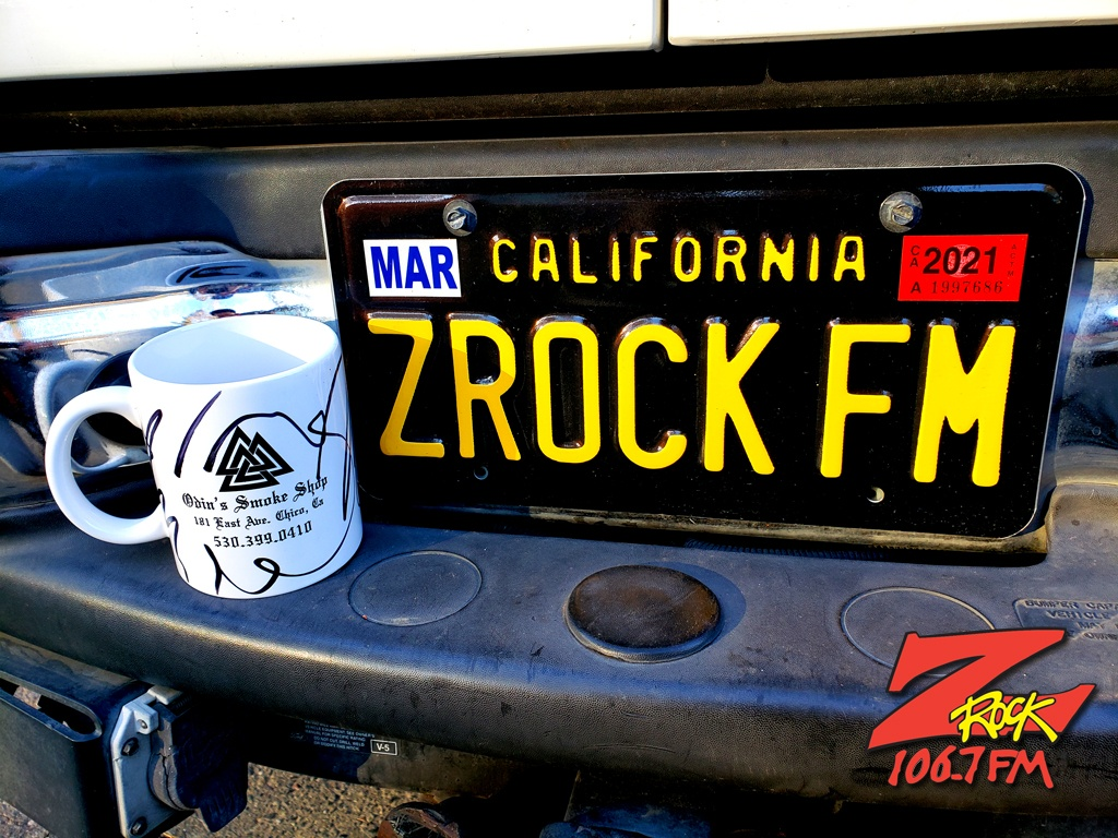 """World famous Z-Rock """"doodle"""" mug customized by Tim Buc Moore at the Hilltop Cafe in Magalia California on Thursday December 10th 2020 for Wake the Buc Up on 106.7 Z-Rock"""