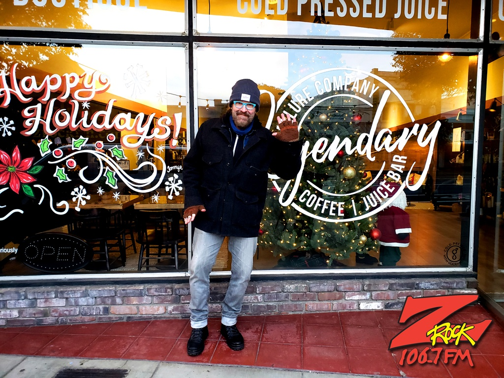 Tim Buc Moore at Legendary Coffee/Juice in Red Bluff California broadcasting live for Wake the Buc Up on 106.7 Z-Rock December 24th 2020