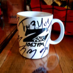 """World famous Z-Rock """"Doodle"""" mug at Legendary Coffee/Juice in Red Bluff California for Wake the Buc Up on 106.7 Z-Rock"""