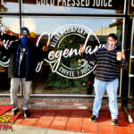 Tim Buc Moore with a loyal Buc-Head at Legendary Coffee/Juice in Red Bluff CA for Wake the Buc Up on 106.7 Z-Rock