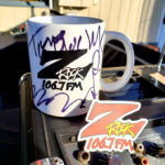"""World famous Z-Rock """"Doodle"""" mug customized by Tim Buc Moore at Lots 'A Java in Oroville California for Wake the Buc Up on 106.7 Z-Rock December 31st 2020"""