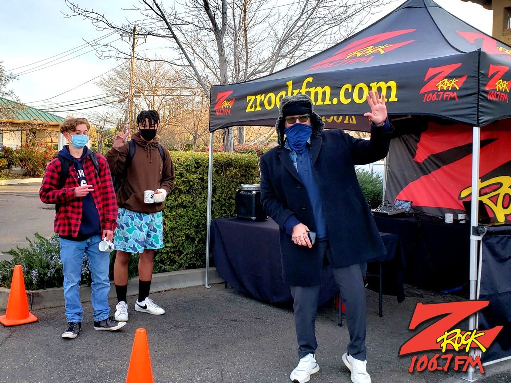 Tim Buc Moore with loyal Buc-Heads at PV Circle K Chevron in Chico CA for Wake the Buc Up on 106.7 Z-Rock February 25th 2021