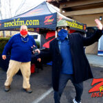 Tim Buc Moore with a loyal Buc-Head at PV Circle K Chevron in Chico CA for Wake the Buc Up on 106.7 Z-Rock February 25th 2021