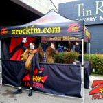Tim Buc Moore with a loyal Buc-Head at Tin Roof Bakery & Cafe in Chico CA for Wake the Buc Up on 106.7 Z-Rock February 11th 2021