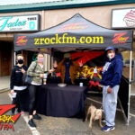 Tim Buc Moore with loyal Buc-Heads at Betty Cakes & Coffee in Oroville CA for Wake the Buc Up on 106.7 Z-Rock February 18th 2021