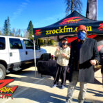 Tim Buc Moore with a loyal Buc-Head at Lynn's Coffee & Crepes in Paradise CA for Wake the Buc Up on 106.7 Z-Rock February 4th 2021