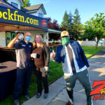 Tim Buc Moore with loyal Buc-Heads at SIP Coffee House in Red Bluff CA for Wake the Buc Up on 106.7 Z-Rock April 22nd 2021