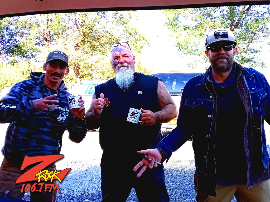 Tim Buc Moore with loyal Buc-Heads at Hilltop Cafe in Magalia CA for Wake the Buc Up on 106.7 Z-Rock June 10th 2021
