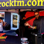 Tim Buc Moore with a loyal Buc-Head at Lovely Layers Cakery in Chico CA for Wake the Buc Up on 106.7 Z-Rock June 3rd 2021